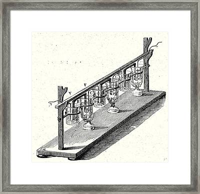 M. Pouillets Thermopile Framed Print by English School
