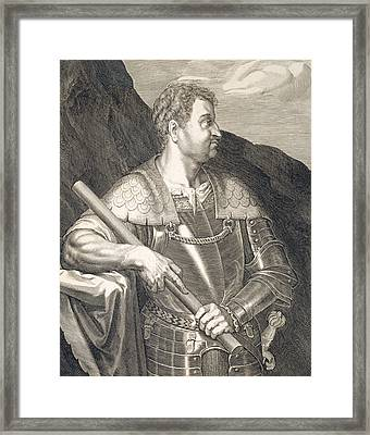 M Silvius Otho Emperor Of Rome Framed Print by Titian
