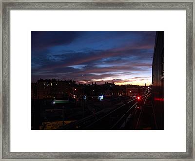 M Train Ststion Framed Print by Mieczyslaw Rudek