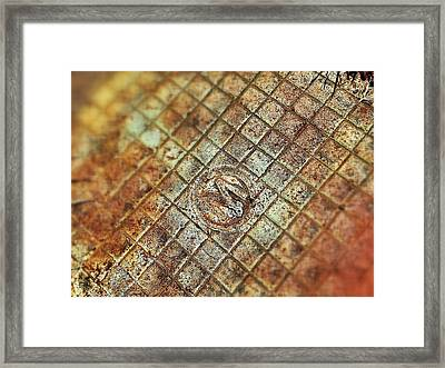 M Was Here Framed Print