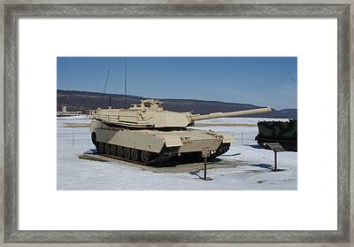 M1 Abrams Front Side Framed Print