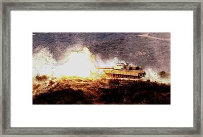 M1 Abrams Tank Camp Pendelton Enhanced Framed Print