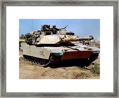 M1 Abrams Tank Desert Camouflage  Framed Print
