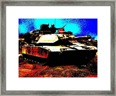 M1 Abrams Tank Enhanced Framed Print