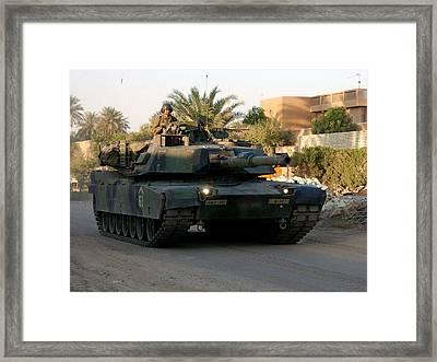M1 Abrams Tank Urban Patrol Framed Print
