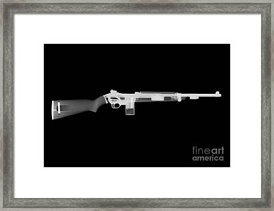 M1 Carbine Reverse Framed Print by Ray Gunz