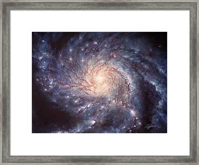 M101 Pinwheel Galaxy Framed Print