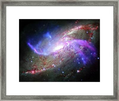 M106 Galaxy Framed Print by Nasa/cxc/ Caltech/p.ogle Et Al./stsci/jpl-caltech/nsf/nrao/vla