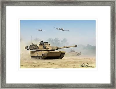 M1a2 Abrams Framed Print by Mark Karvon
