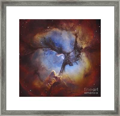 M20, The Trifid Nebula In Sagittarius Framed Print by Robert Gendler