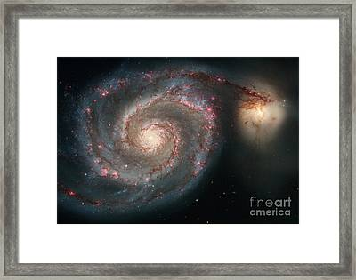 M51, Ngc 5194, Whirlpool Galaxy Framed Print by Science Source