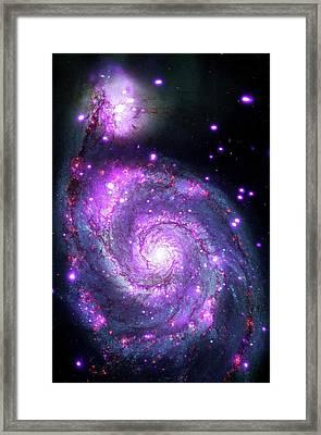 M51 Whirlpool Galaxy Framed Print