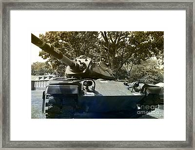 M60 Patton Artillery Tank Framed Print by Luther Fine Art