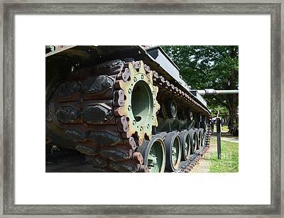 M60 Patton Artillery Tank Tread Framed Print by Luther Fine Art