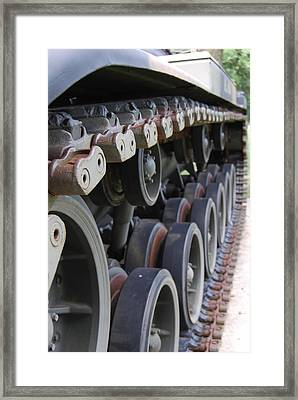 Framed Print featuring the photograph M60a3 Us Tank 04 by Ramona Whiteaker