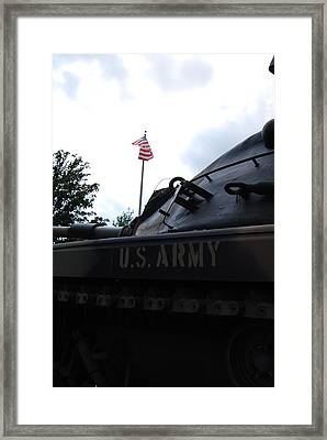 Framed Print featuring the photograph M60a3 Us Tank 05 by Ramona Whiteaker