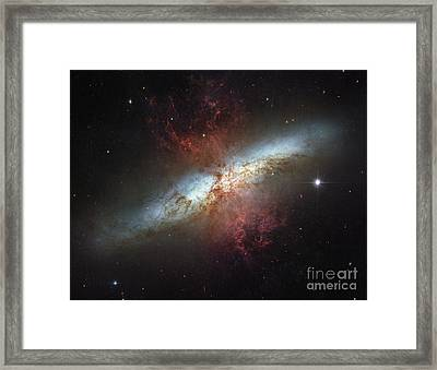 M82-ngc 3034-cigar Galaxy Framed Print by Science Source