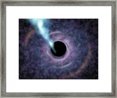 M87 Galactic Black Hole Framed Print by Gemini Observatory/aura Illustration By Lynette Cook