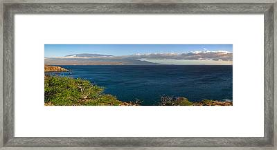 Framed Print featuring the photograph Maalea Bay Overlook   by Lars Lentz