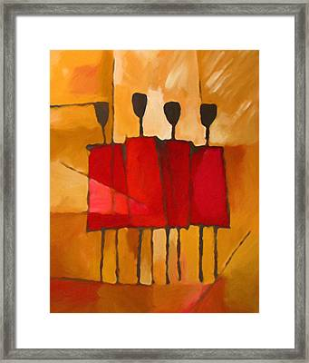 Maasai Group Framed Print by Lutz Baar