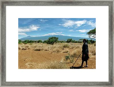 Maasai Man Framed Print by Babak Tafreshi