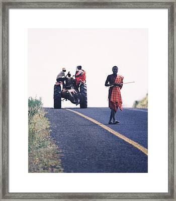 Maasai Moment  Framed Print by Joe  Connors