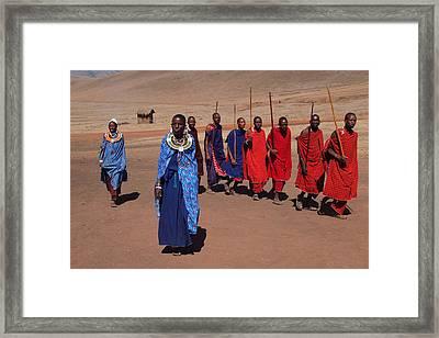 Maasai People Framed Print