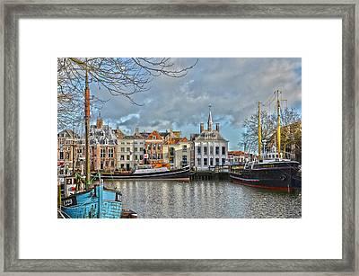 Maassluis Harbour Framed Print