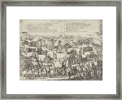 Maastricht Conquered By Parma, 1579, Jan Miel Framed Print by Jan Miel