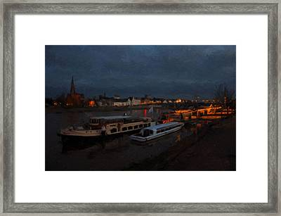 Maastricht Nine Days Before Christmas Framed Print by Nop Briex