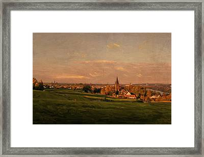 Framed Print featuring the painting Maastricht Seen From Sint Pieter by Nop Briex