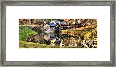 Mabry Grist Mill Panorama Framed Print