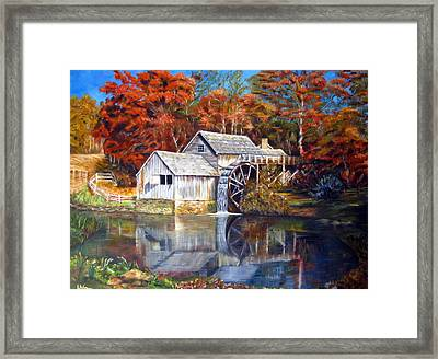 Mabry Mill Blue Ridge Virginia Framed Print by LaVonne Hand