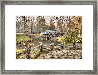 Framed Print featuring the photograph Mabry Mill - Dan Virginia by Gregory Ballos