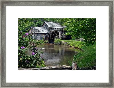 Framed Print featuring the photograph Mabry Mill In May by John Haldane