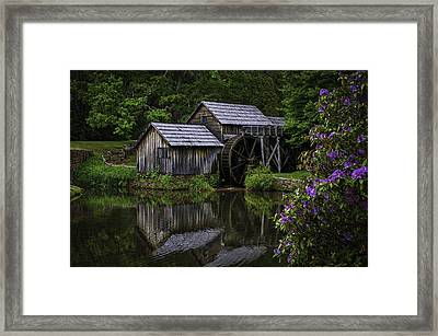 Mabry Mill In Spring Framed Print