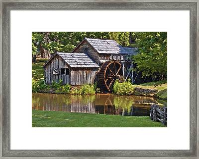 Mabry Mill In Summer Framed Print by Patrick M Lynch