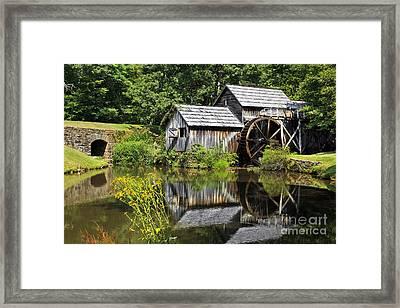Mabry Mill In Virginia Framed Print