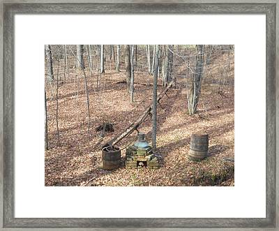 Mabry Mill Moonshine Still Replica Framed Print