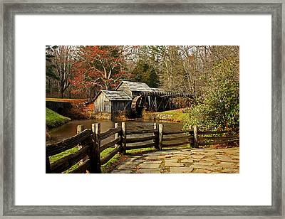 Framed Print featuring the photograph Mabry Mill by Suzanne Stout