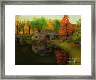 Mabry Mill Framed Print by Timothy Smith