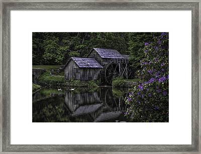 Mabry Mills In Spring 0002 Framed Print