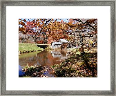 Mabry's Mill In October Framed Print by Angelia Hodges Clay