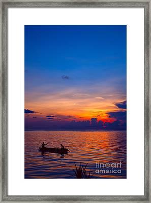 Mabul Island Sunset Borneo Malaysia Framed Print by Fototrav Print