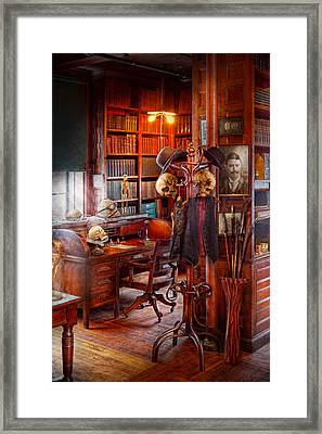 Macabre - In The Headhunters Study Framed Print by Mike Savad