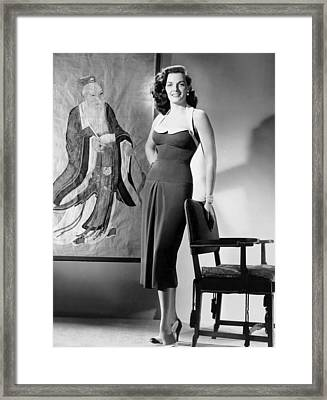 Macao, Jane Russell, In A Dress Framed Print by Everett