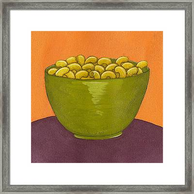 Macaroni And Cheese Framed Print by Christy Beckwith