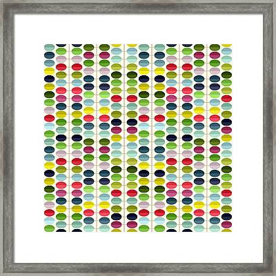 Macaroon Leaves Framed Print by Sharon Turner