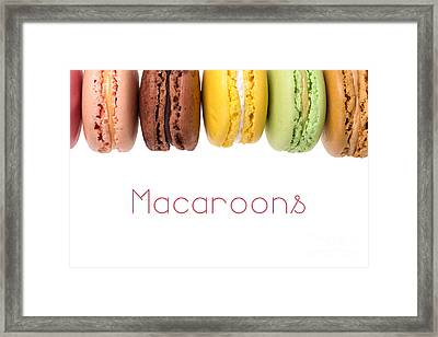 Macaroons Isolated Framed Print by Jane Rix