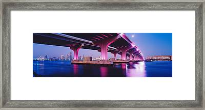 Macarthur Causeway Biscayne Bay Miami Framed Print by Panoramic Images